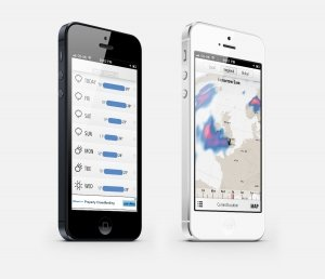 forecast.io iapp weather app for iphone