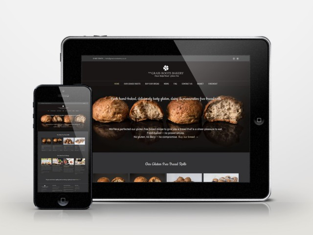 grassroots gluten free ecommerce website