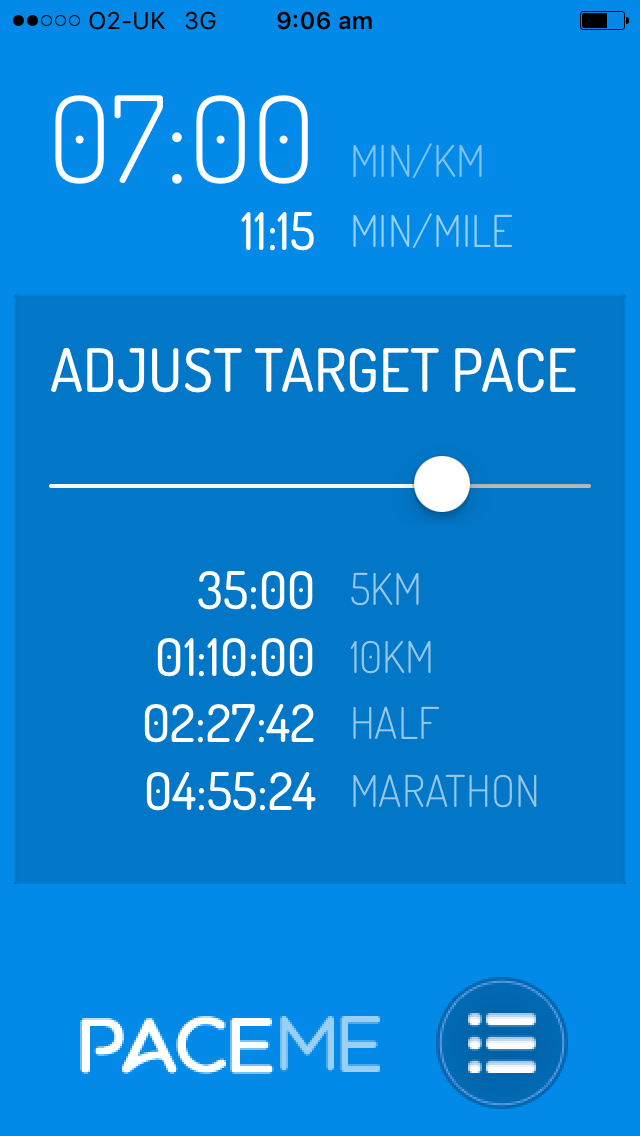 Pace Me - A running pace calculator app - Brainstorm Creative