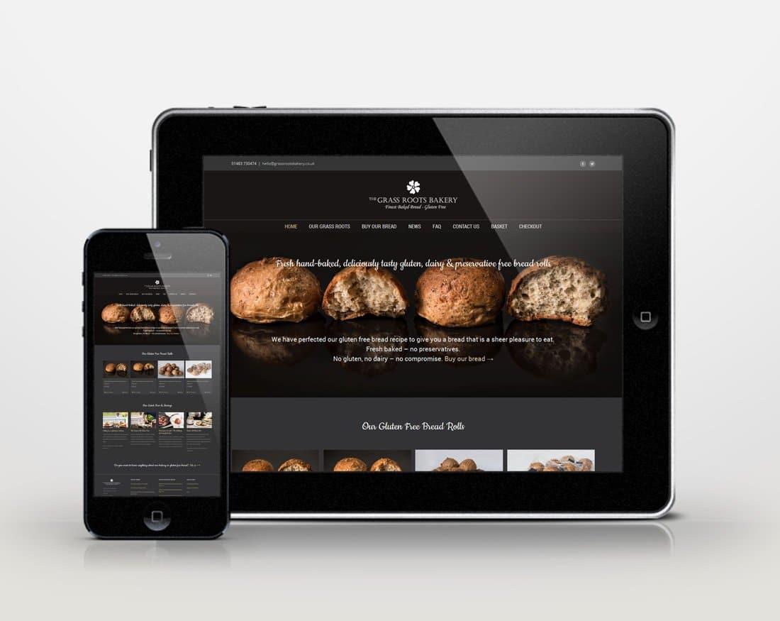 grassroots gluten free ecommerce website