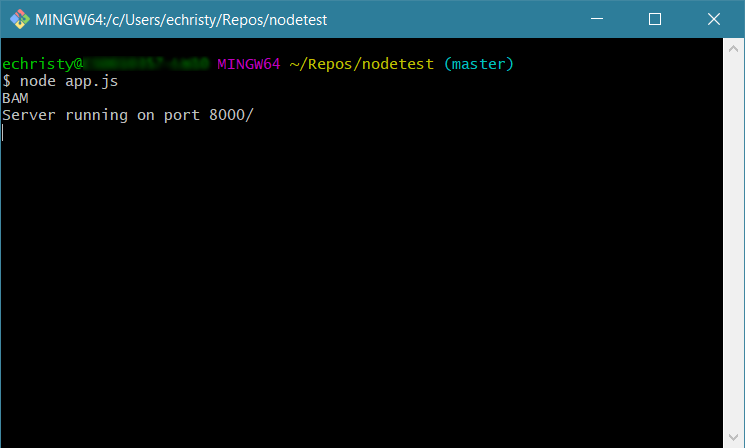 how to run a node js file in a terminal