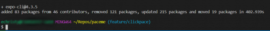 expo update CLI complete