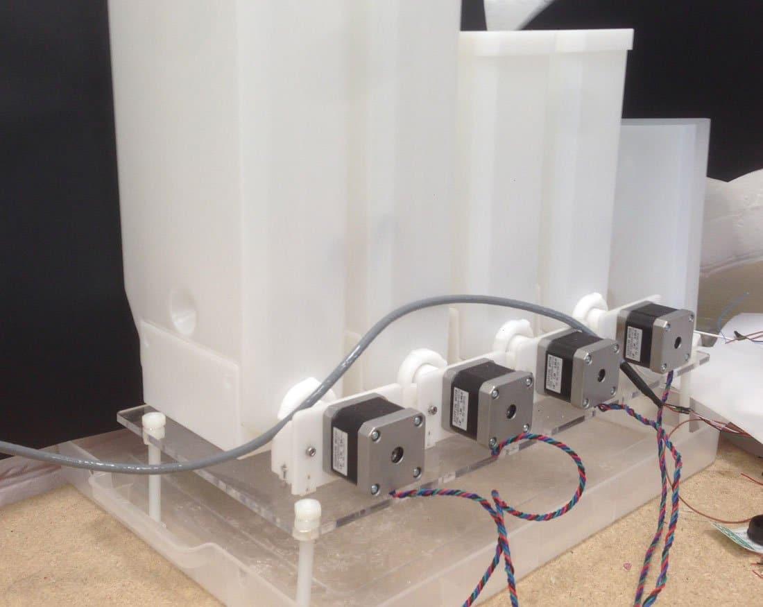 ingredients dispensing system arduino