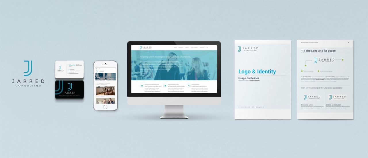 jarred consulting brand website design