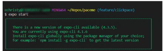 how to update Expo CLI